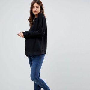Asos Maternity Cute Sweat Shirt Size 8 Black